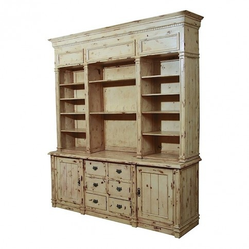 Antique White Apothecary Cabinet
