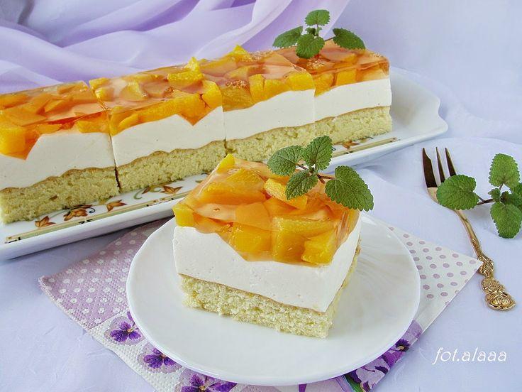 Ala piecze i gotuje: Ciasto brzoskwiniowe