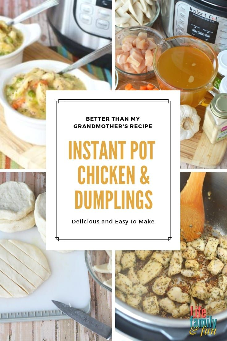 The Best Instant Pot Chicken Dumplings Recipe Southern Comfort