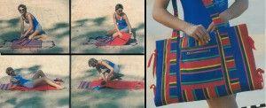 Пляжная сумка - подстилка