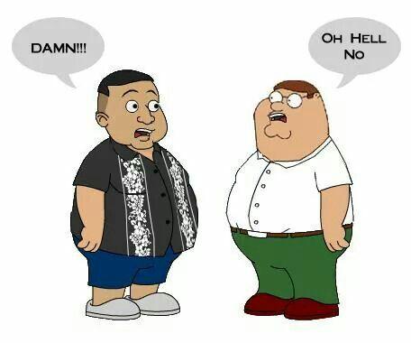 Fluffy (Gabriel Iglesias) meets Family Guy