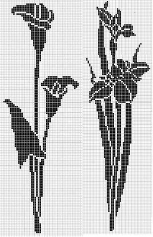 крючком туники схемы вязание филейное