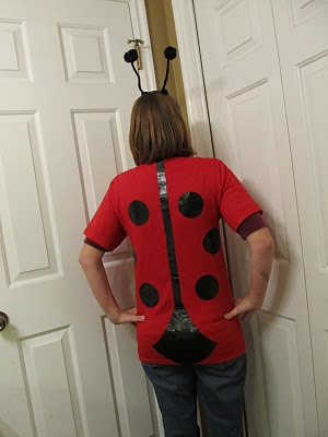 Love this last minute ladybug costume. Halloween is supposed to be fun. What's up with those sexy women costumes?!