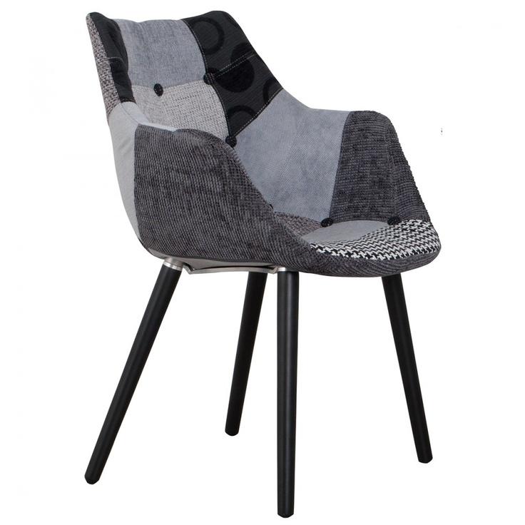 chaise eleven patchwork gris et noir - Chaise Eleven Patchwork Colors