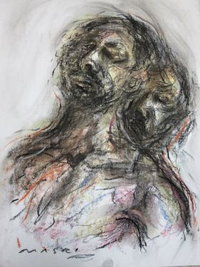 "Saatchi Online Artist Masri Hayssam; Drawing, ""Me and me -SOLD-"" #art"