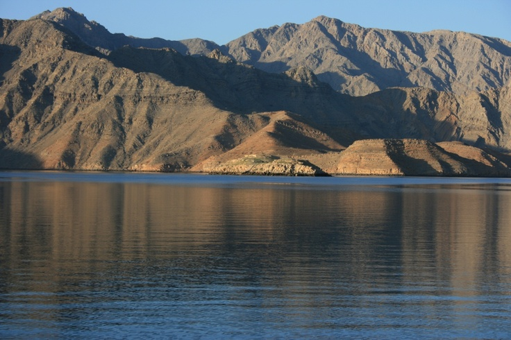 The Musandam Peninsula an ex clave of Oman and separated by the UAE