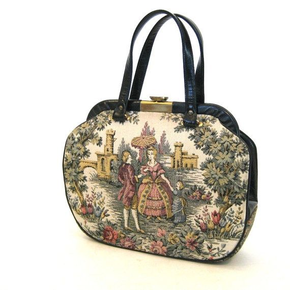 victorian purses | vintage VICTORIAN tapestry handbag