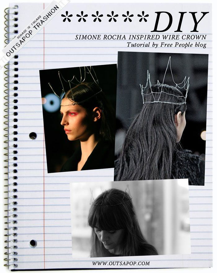 DIY tutorial - Simone Rocha wire crown:  This would be a neat base for  a flower garland!
