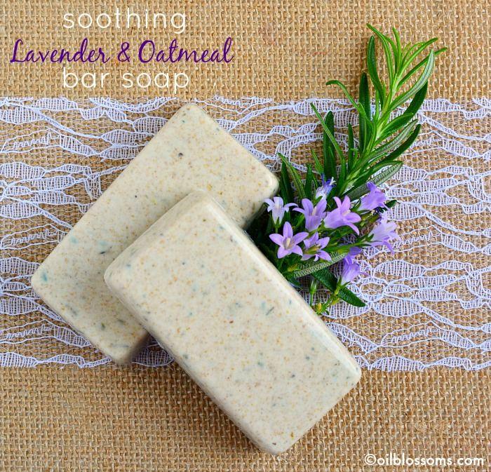 1.2k001020Making DIY Soothing Oatmeal & Lavender Bar Soap ...