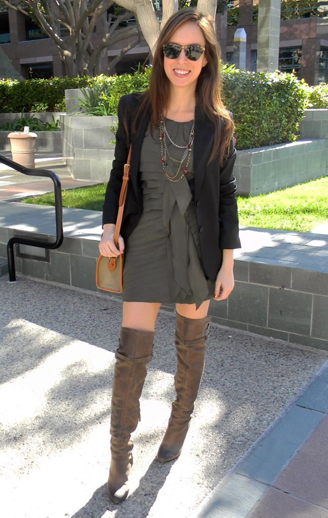 Love this outfit...I have these exact boots but not the creativity to pull something like this together :)