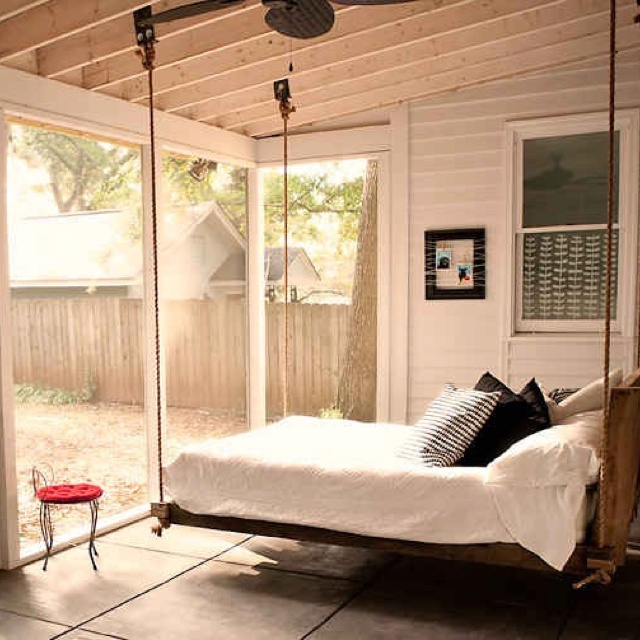 swing bed back porch pinterest. Black Bedroom Furniture Sets. Home Design Ideas