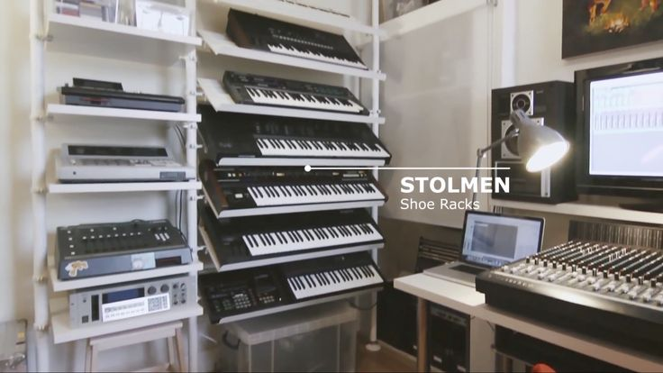 IKEA transforms a home office into an organized music production studio. I love the Stolmen system used for keyboard racks and gear shelves. https://www.youtube.com/watch?v=dMIYX_bNnF0