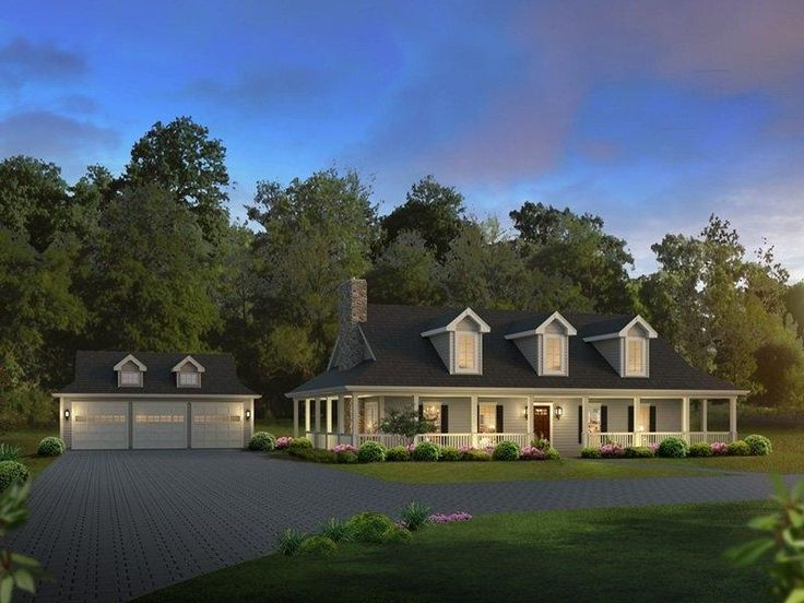 House Plans With Detached Garage And Breezeway