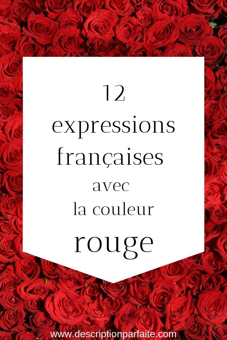 12 Expressions françaises avec du rouge Expressions