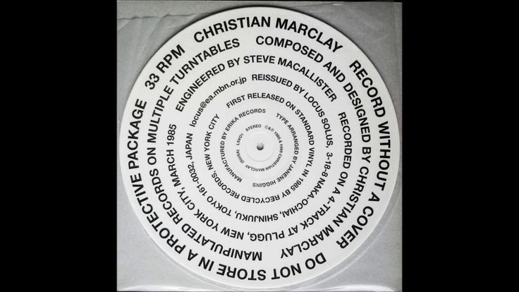 Christian Marclay - Record Without A Cover - YouTube