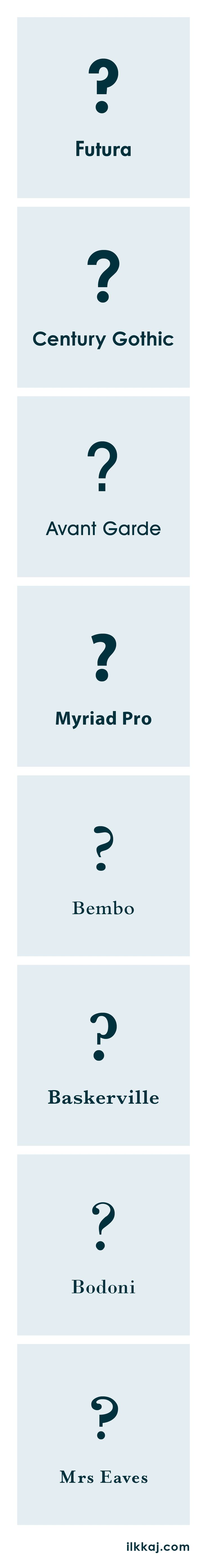 Comparing the question marks of some of my favorite typefaces.  #Typography #Typografia