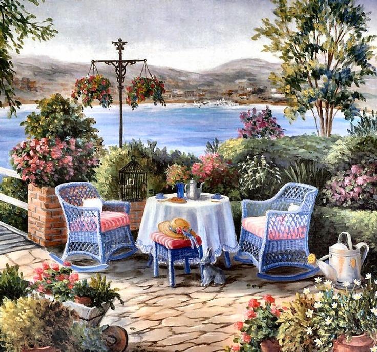Tea on the Terrace by Barbara Felisky