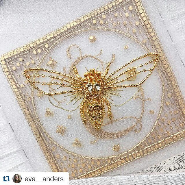 A new course of luneville embroidery from #eveanders coming soon! Making a cicada.  Новый курс по люневильской вышивке цикады от #eveanders. Скоро!  #jewelry #accessories #embroidery #insectart #insectaccessories #coutureembroidery #course