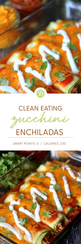 Clean Eating Zucchini Enchiladas