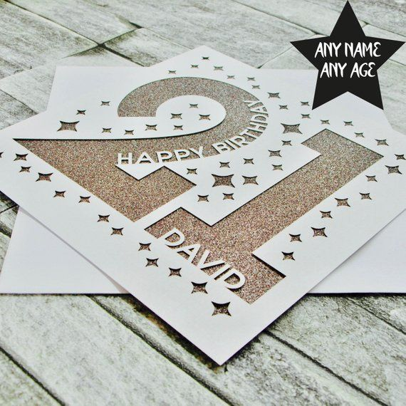 Personalised 21st Birthday Card 21st Birthday Card Personalised Age 21 Card Age 21 Name Brother Sister Daughter Lasercut Handmade In 2021 21st Birthday Cards Birthday Cards Cricut Birthday Cards