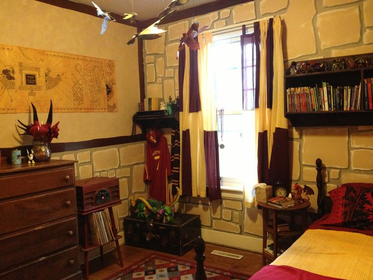 Harry Potter Gryffindor Bedroom Hp Pinterest Harry