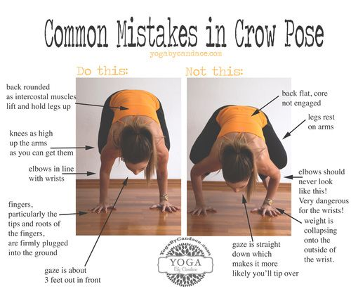 Common Mistakes in Crow Pose   Yoga By Candace