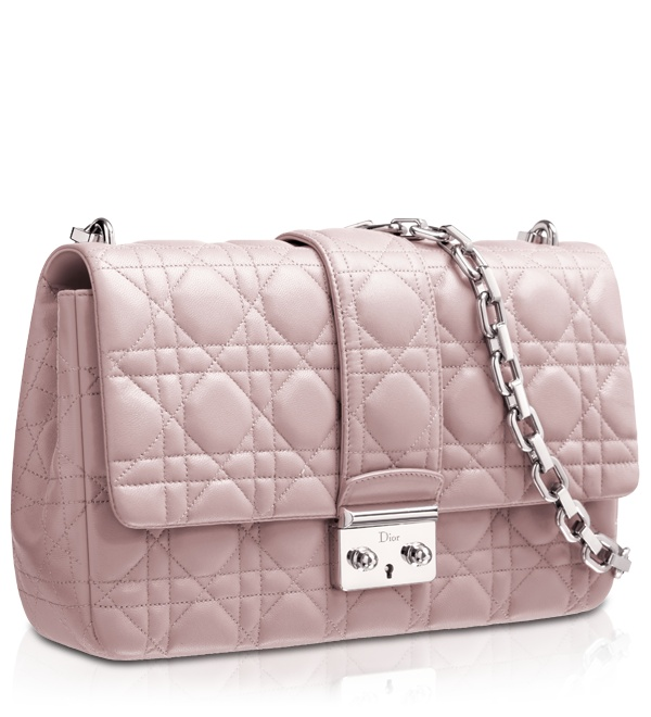 MISS DIOR - Foulard-coloured leather 'Miss Dior' bag- perfectly lady-like.