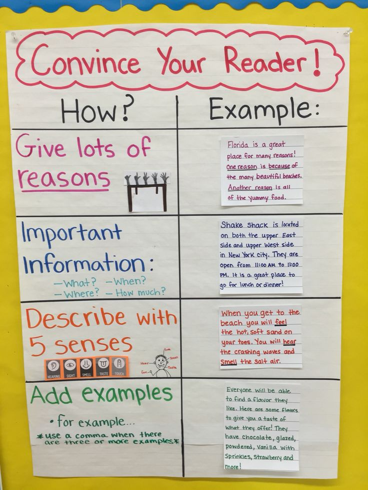elaboration strategies for opinion writing