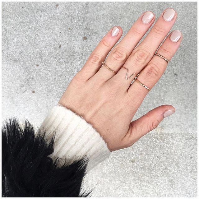 rose gold fingers & nude mani... @anna_i_j #annaij #details