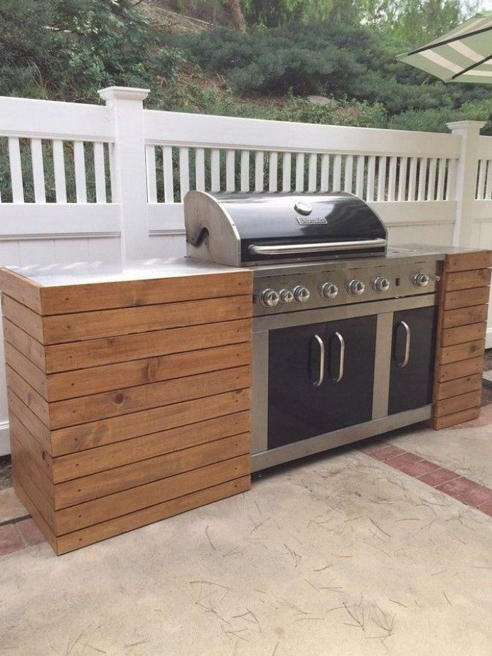 Outdoor Kitchen Island With Kegerator