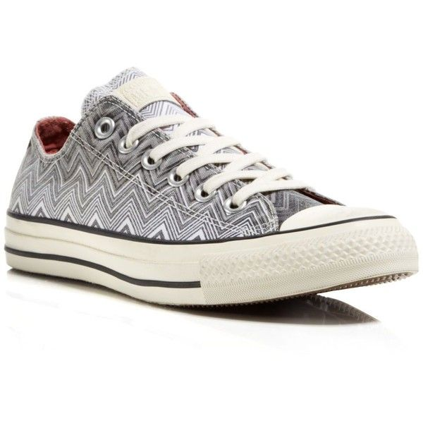 Converse Lace Up Sneakers - Missoni All Star Low Top ($63) ❤ liked on Polyvore featuring shoes, sneakers, converse, chaussure, sapatos, multi color shoes, converse shoes, lace up shoes, colorful sneakers and converse trainers