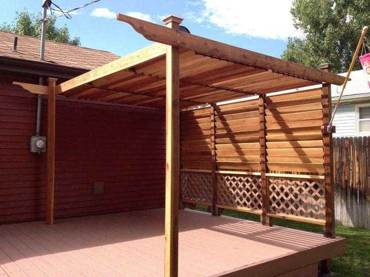 Creative DIY FLEX•fence Outdoor Project Idea. Louvered Hardware Idea: Decks, Fences, Pergolas, Hot Tub Privacy