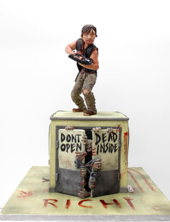 how to make a walking dead birthday cake