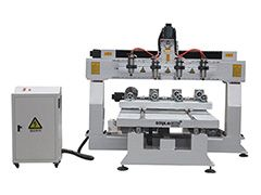 STYLECNC® 1325 3D CNC router machine with 4 rotary