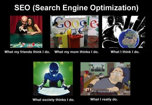 SEO - What others think I do vs. what I really do!