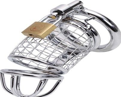 Sex Toys Cock Cage Ball Stretcher Condoms Penis Rings Stainless Steel Male Penis Chastity Cage Devices Sex Products. #Affiliate