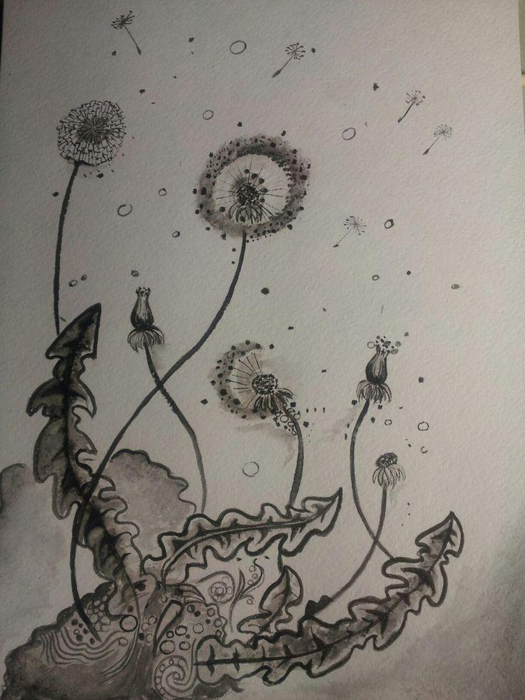 #dandelion  #watercolour