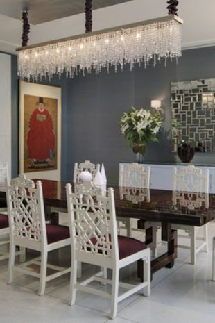 Beautiful dining rooms the chandelier and transitional for Beautiful dining room chandeliers