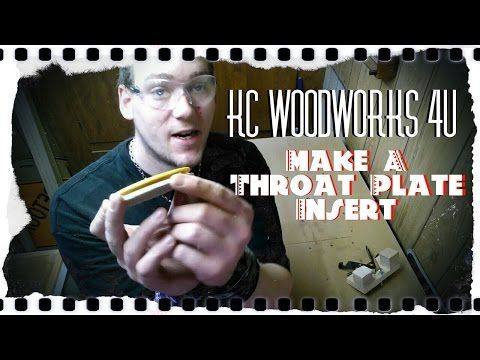 v13 Make A Spindle Sander Throat Plate #Making a throat plate for a spindle sander! This video for this can be found @ KC Woodworks 4U on #youtube and the process can be applied to many different applications similar to this!  Just attach the template to your work piece and go at 'er!  #woodworking #templatebuilding #shopbuild #shopbuilt