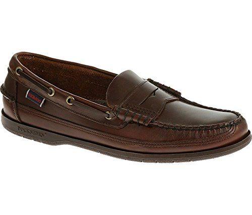 Sebago Men's Heritage Penny Men's Brown Leather Loafers In Size 42 E Brown M51dbru