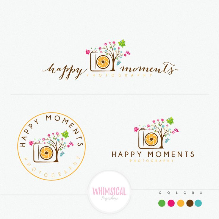 Cute Camera Tree cute camera logo design by WhimsicalLogoShop