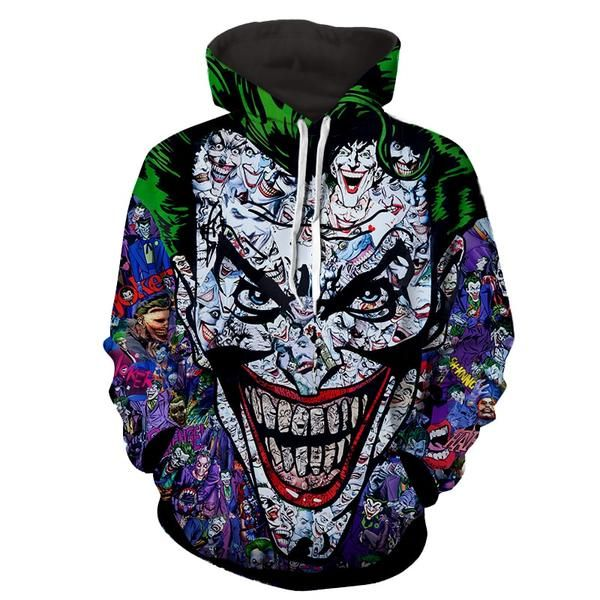 Colourful Mens Hood Pocket Printed Long-Sleeve Plus Size Athletic Sweatshirts