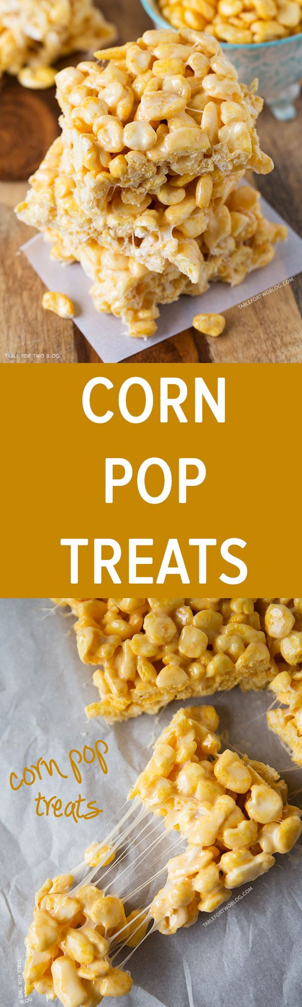 Corn pop treats are a fun spin on the classic rice krispy treat! These corn pop treats will bring you right back to childhood!