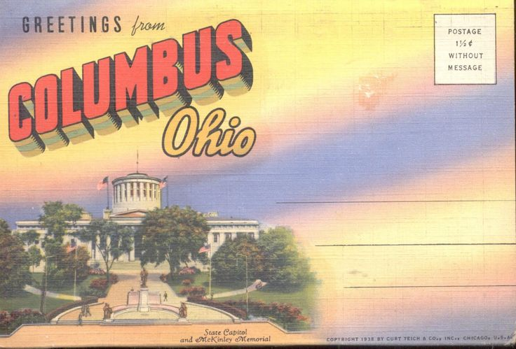 Greetings from Columbus, Ohio Postcard booklet (356