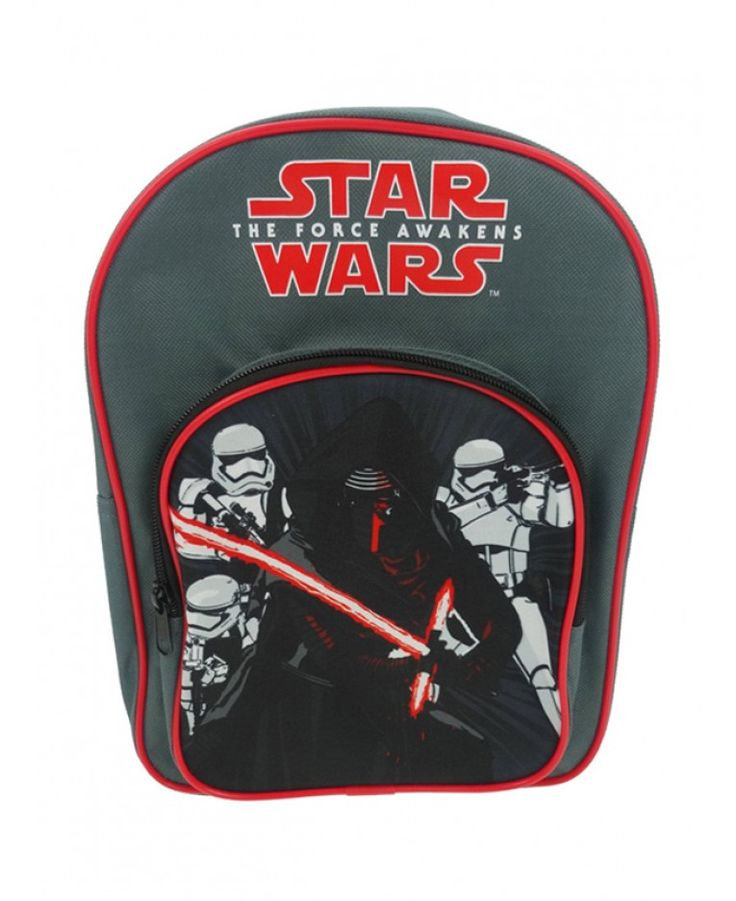 This cool Star Wars Episode VII Elite Squad Backpack features Kylo Ren and some Stormtroopers and has an additional front pocket.