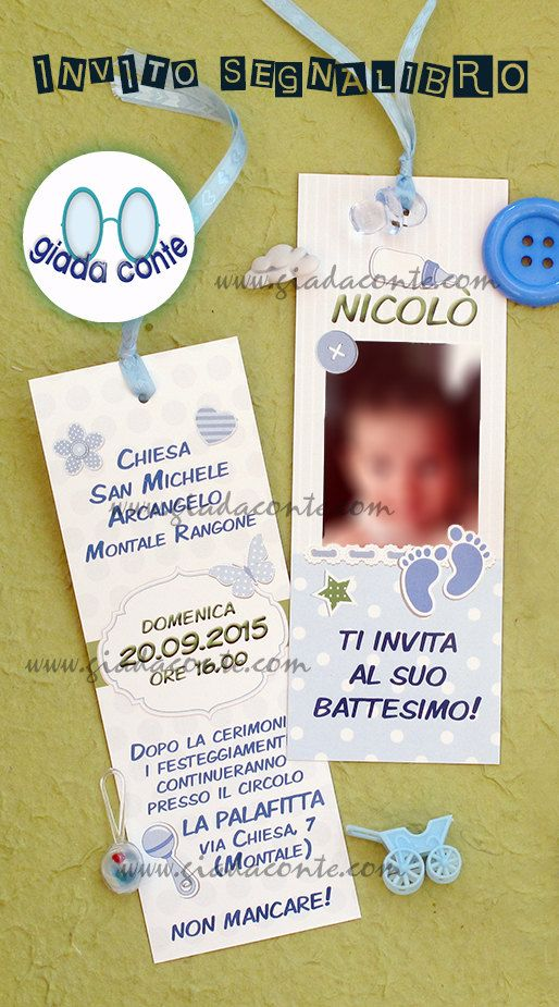 INVITO BATTESIMO BIMBO  set 20 pezzi di giadacontewedding su Etsy