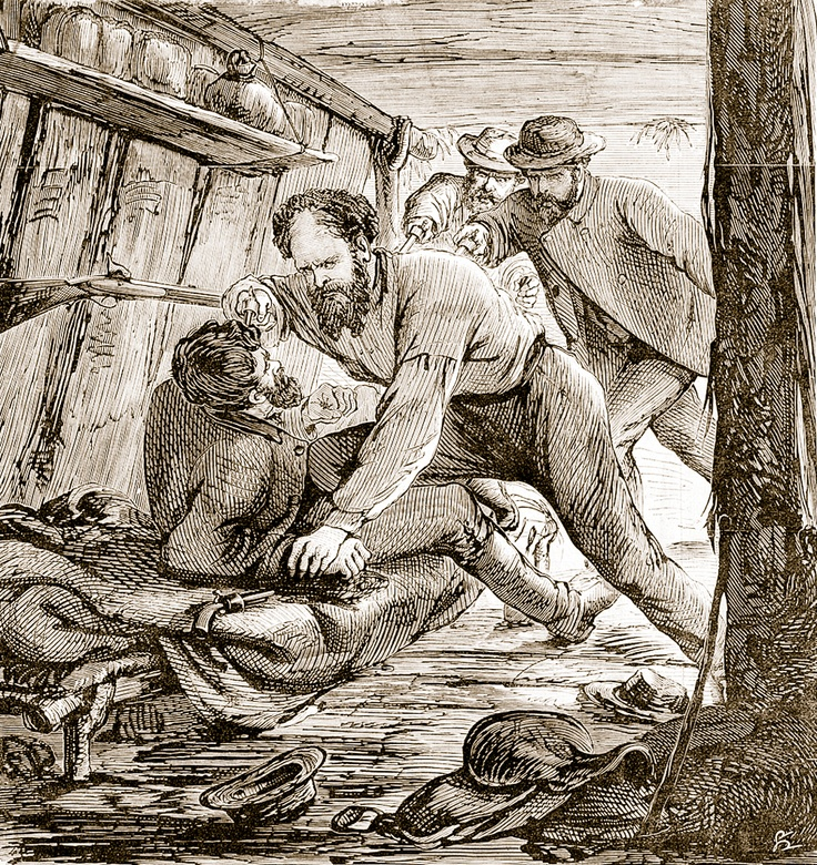 Arrested at dawn in his King Valley mountain hideout, Harry Power was captured by Superintendent Nicolson along with Superintendent Hare and Sergeant Montfort. Harry wrongly believed that Ned Kelly had betrayed him.