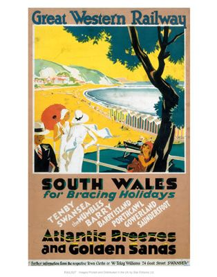South Wales for Bracing Holidays  Atlantic Breezes and Golden Sands