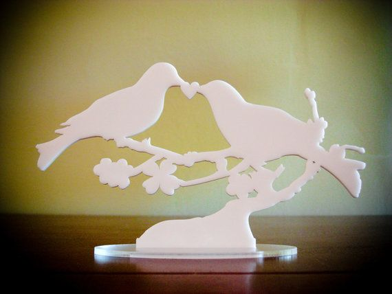 For the Love Birds! Acrylic cake topper from Bungalow Glow on etsy