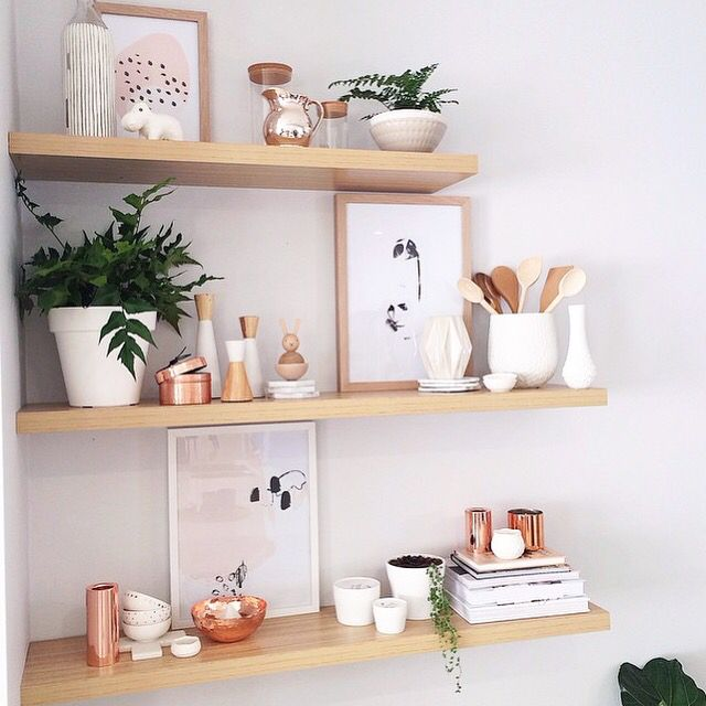 Shelves, shelves, shelves. Love this look styled by Kyree interiors using Yorkelee prints.